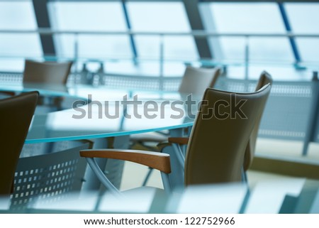 Light modern boardroom meeting - stock photo