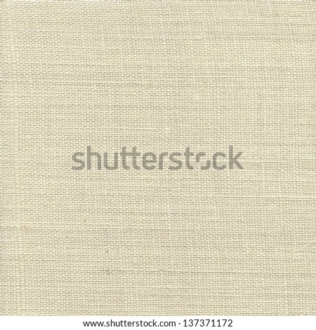 Light natural linen texture for the background - stock photo
