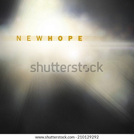 light of new hope concept, illustration background - stock photo