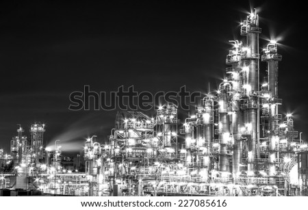 Light of petrochemical plant - stock photo
