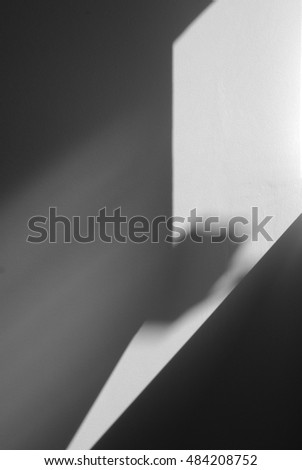 light on white wall