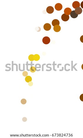 Light Orange modern geometrical circle abstract background. Dotted texture template. Geometric pattern in halftone style with gradient.