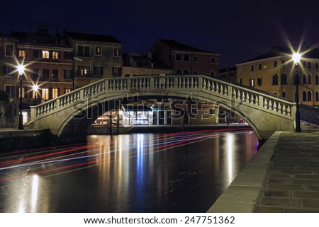Light painting in Venice