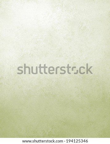 light pale green white background with gradient color and soft vintage distressed texture design, light pastel olive green with white lighting - stock photo