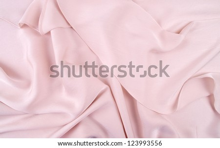 light pink silk drape, background or texture - stock photo