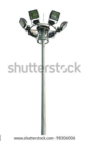 light pole isolated - stock photo
