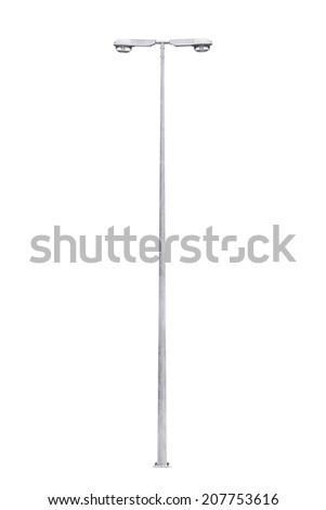 Light pole isolated on a white background - stock photo