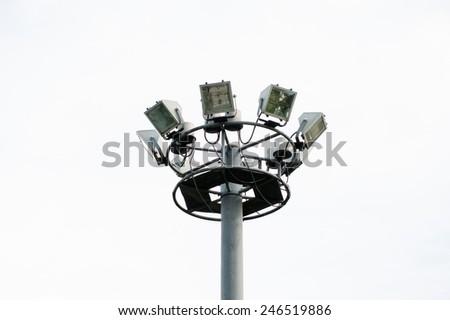 light pole white background  - stock photo