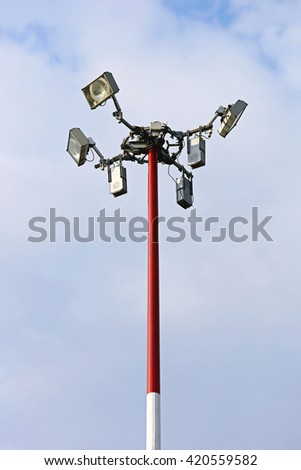 Light Pole with Antenna for Cellular Network Tower