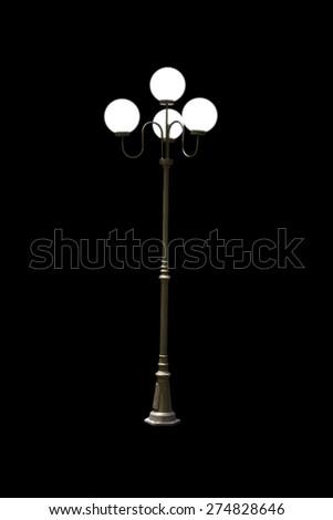 Light poles lamppost - stock photo