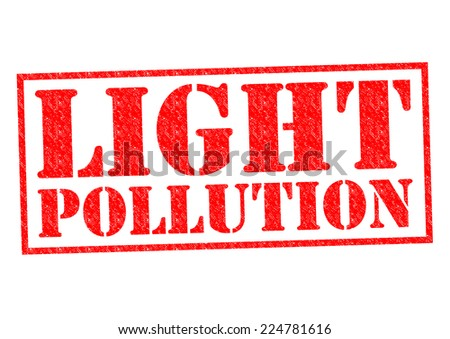 LIGHT POLLUTION red Rubber Stamp over a white background. - stock photo