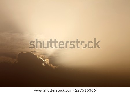 light rays and other atmospheric effect - stock photo
