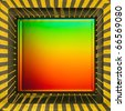light sensor on a card of digital camera with colored interference - stock photo