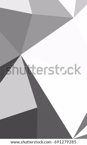 Light Silver Gray Blurry Triangle Pattern Geometric Illustration In Origami Style With Gradient