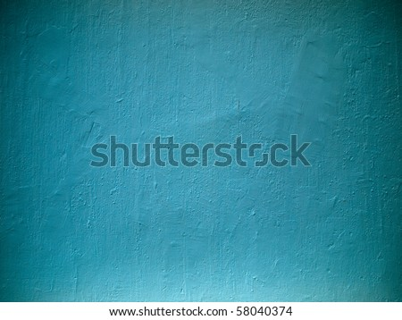 light sky blue old wall texture - stock photo