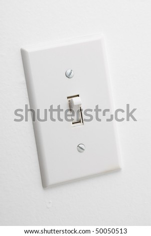 Light Switch close up shot - stock photo