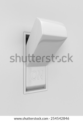 Light switch. 3d illustration isolated on white background - stock photo