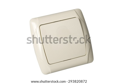 light switch isolated on white background with clipping path