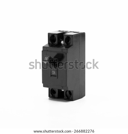 light switch on a white background. - stock photo