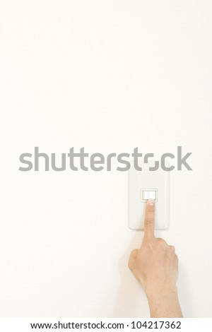 Light switch on and off - stock photo