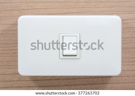 light switch on switchboard