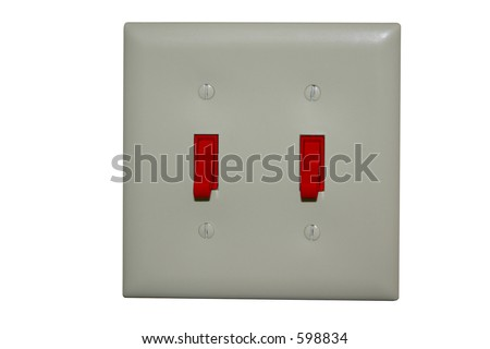 Light Switch with Red