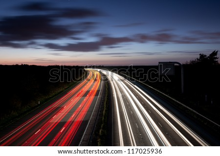 Light trails - stock photo