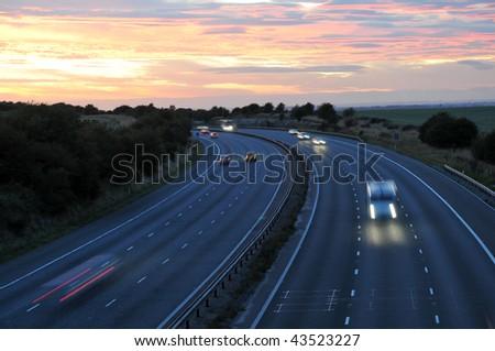 Light trails - stock photo
