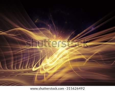 Light Waves series. Backdrop design of fractal waves and motion trails for works on design, science and modern technologies