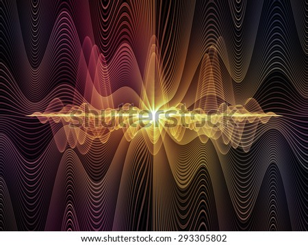 Light Waves series. Backdrop of  light curves and sine waves to complement your design on the subject of design, science and modern technologies - stock photo