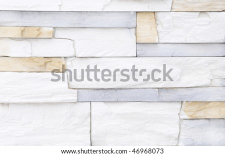 Light white blue brick stone exterior and interior decoration building  material for wall finishingLight White Blue Brick Stone Exterior Stock Photo 46968073  . Exterior Wall Finishing Materials. Home Design Ideas