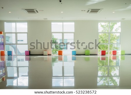 light white room with big window