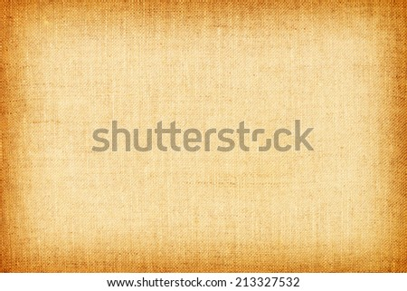 light yellow natural linen texture for the background. - stock photo