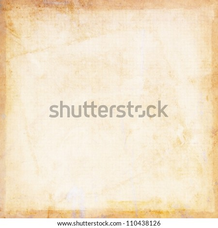 light yellowed grunge background paper texture - stock photo
