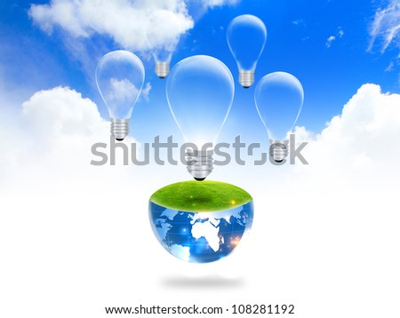 lightbulb : eco concept - stock photo