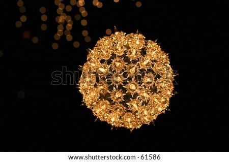 Lighted Christmas Ball - stock photo
