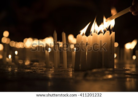 Lightening the candles