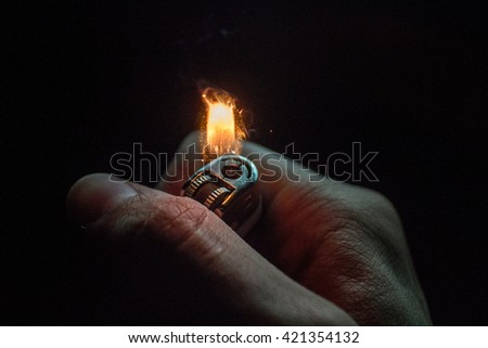 Lighter Ignition - stock photo