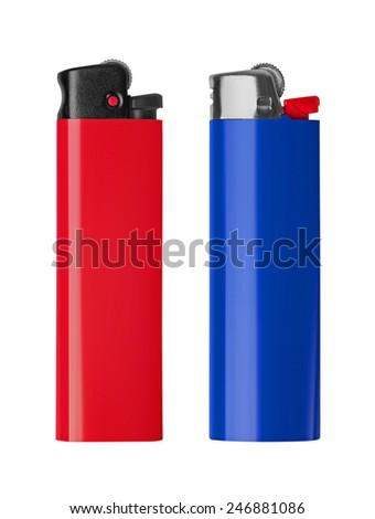 Lighter isolated on white background - stock photo