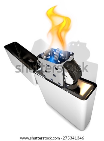 Lighter metal - stock photo