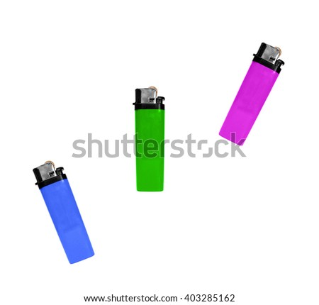 Lighter pink green blue colors isolated on white - stock photo