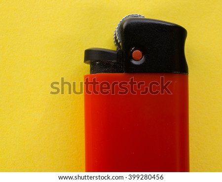 Lighter red on a yellow background - stock photo