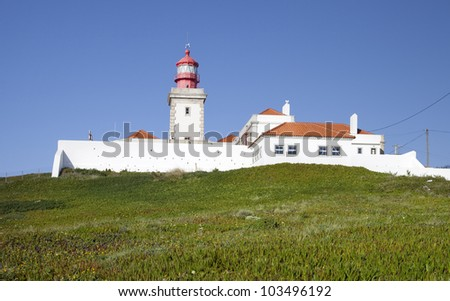 Lighthouse at Cabo da Roca, West most point of Europe, Portugal