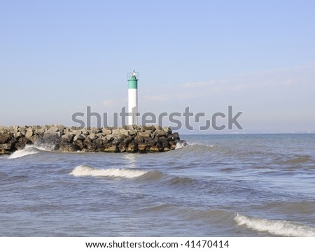 Lighthouse at Fifty Point, Ontario - stock photo