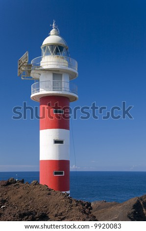 Lighthouse at Punta de Teno - at the north-western tip of Tenerife - stock photo