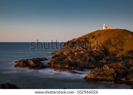 Lighthouse at sunrise, Port Macquarie, New South Wales, Australia