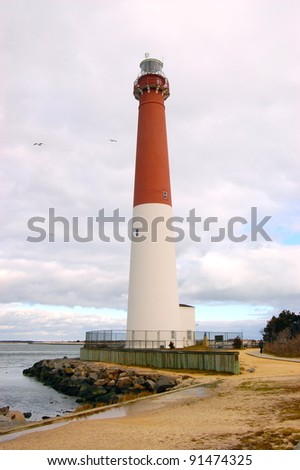 Lighthouse Barnegat Light - stock photo