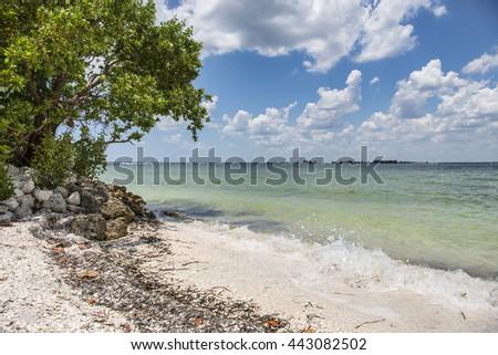 Lighthouse Beach, Sanibel Island, Florida - stock photo