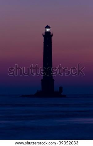 lighthouse, Cap de la Hague, Normandy, France - stock photo