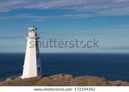 Lighthouse Cape Spear - stock photo